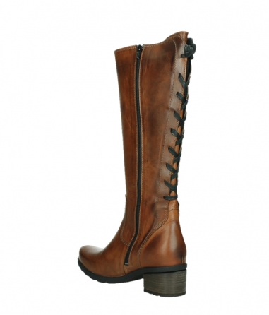 wolky high boots 07505 seoul 30430 cognac leather_16