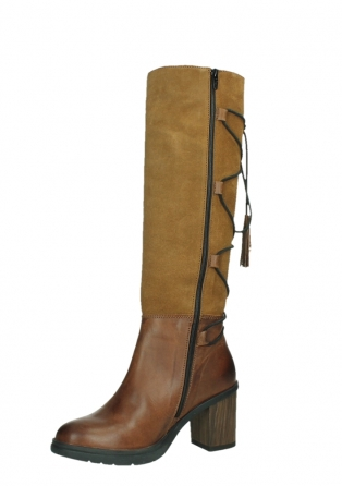 wolky high boots 08062 atasu 34430 cognac leather with suede_11