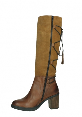 wolky high boots 08062 atasu 34430 cognac leather with suede_12