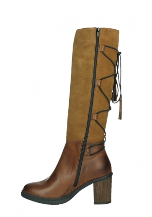 wolky high boots 08062 atasu 34430 cognac leather with suede_13