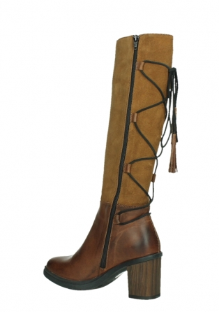 wolky high boots 08062 atasu 34430 cognac leather with suede_15