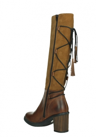 wolky high boots 08062 atasu 34430 cognac leather with suede_16