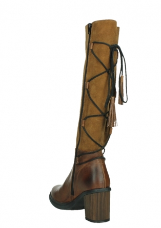 wolky high boots 08062 atasu 34430 cognac leather with suede_17