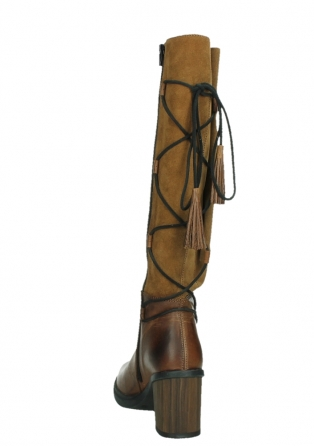 wolky high boots 08062 atasu 34430 cognac leather with suede_18