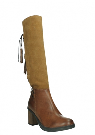wolky high boots 08062 atasu 34430 cognac leather with suede_4