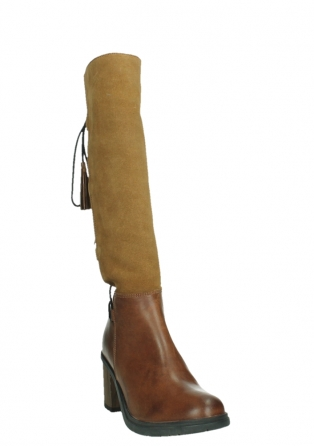 wolky high boots 08062 atasu 34430 cognac leather with suede_5