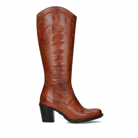 wolky high boots 08727 rozzi 30430 cognac leather