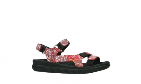 wolky sandalen 00710 energy lady 42500 red mosaic suede_2