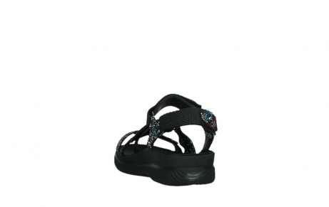 wolky sandalen 00720 action lady 42000 black mosaic suede_18