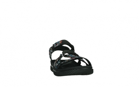 wolky sandalen 00720 action lady 42000 black mosaic suede_6