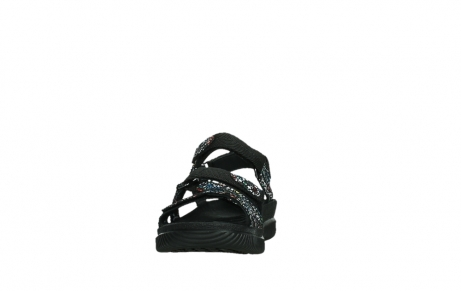 wolky sandalen 00720 action lady 42000 black mosaic suede_8