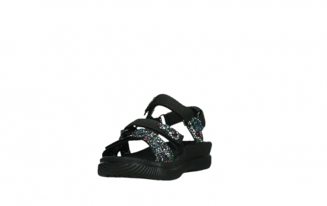 wolky sandalen 00720 action lady 42000 black mosaic suede_9