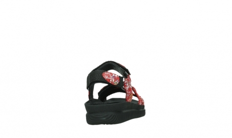 wolky sandalen 00720 action lady 42500 red mosaic suede_20