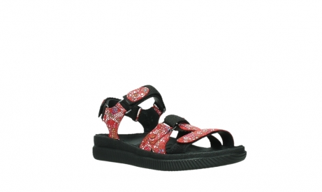 wolky sandalen 00720 action lady 42500 red mosaic suede_4