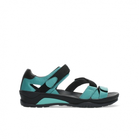wolky sandalen 01050 ripple 30780 aqua blue leather