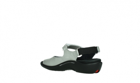 wolky sandalen 01300 salvia 85130 silver leather_16