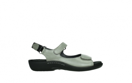 wolky sandalen 01300 salvia 87130 silver grey pearl leather_1