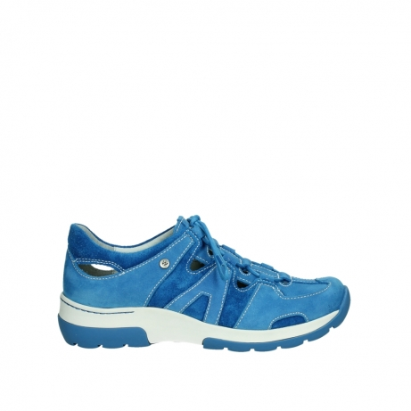 wolky lace up shoes 03028 nortec 11865 royal blue nubuck