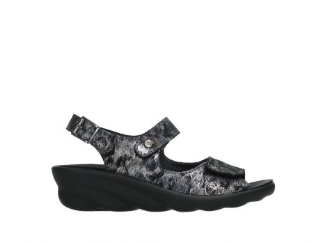 wolky sandalen 03125 scala 48000 black printed suede_1
