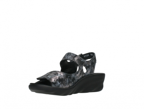 wolky sandalen 03125 scala 48000 black printed suede_10