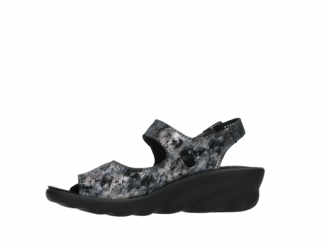 wolky sandalen 03125 scala 48000 black printed suede_12