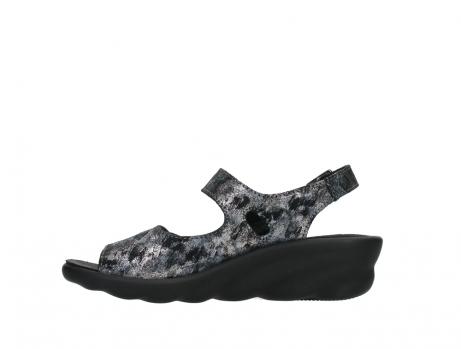 wolky sandalen 03125 scala 48000 black printed suede_13