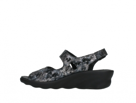 wolky sandalen 03125 scala 48000 black printed suede_14