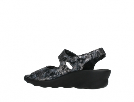 wolky sandalen 03125 scala 48000 black printed suede_15