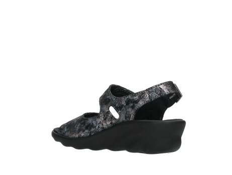 wolky sandalen 03125 scala 48000 black printed suede_16