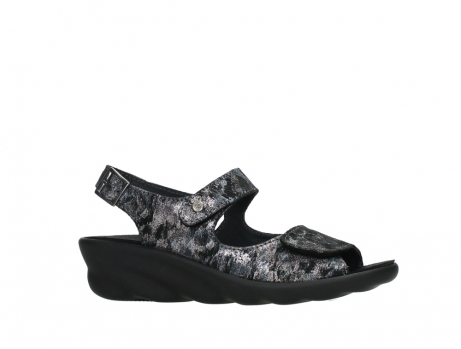 wolky sandalen 03125 scala 48000 black printed suede_2