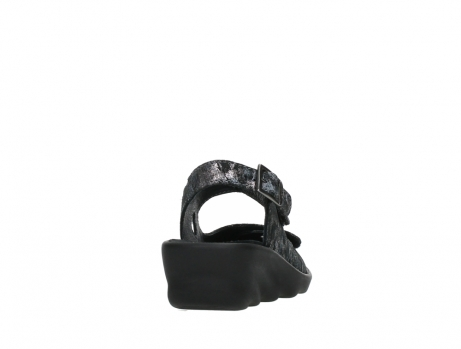 wolky sandalen 03125 scala 48000 black printed suede_20