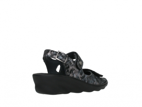 wolky sandalen 03125 scala 48000 black printed suede_22