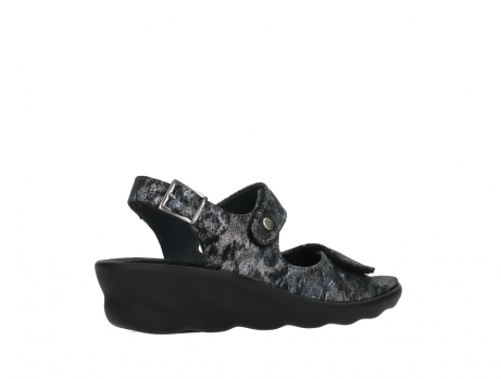 wolky sandalen 03125 scala 48000 black printed suede_23