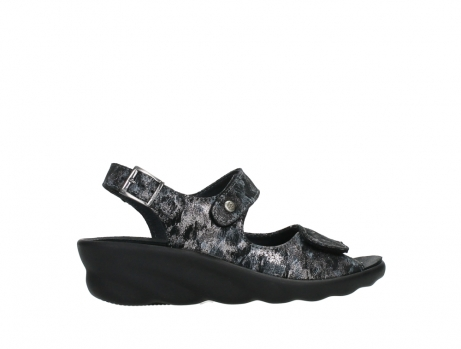 wolky sandalen 03125 scala 48000 black printed suede_24