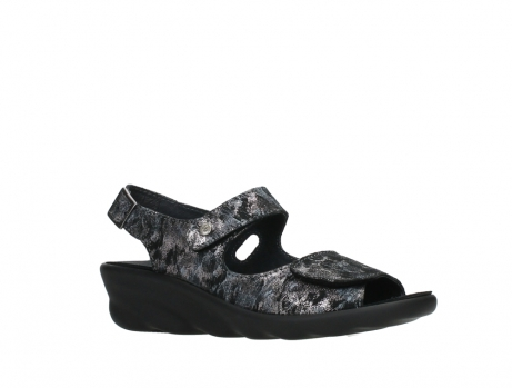 wolky sandalen 03125 scala 48000 black printed suede_3