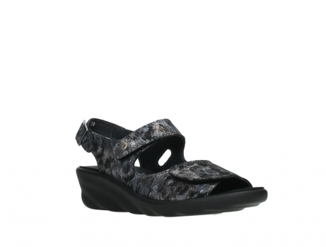 wolky sandalen 03125 scala 48000 black printed suede_4