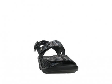 wolky sandalen 03125 scala 48000 black printed suede_6