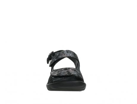 wolky sandalen 03125 scala 48000 black printed suede_7