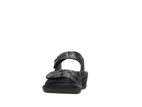wolky sandalen 03125 scala 48000 black printed suede_8