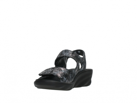 wolky sandalen 03125 scala 48000 black printed suede_9