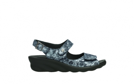 wolky sandalen 03125 scala 48800 blue printed suede_1