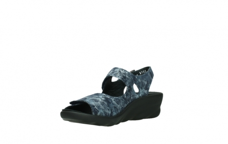 wolky sandalen 03125 scala 48800 blue printed suede_10