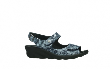 wolky sandalen 03125 scala 48800 blue printed suede_2