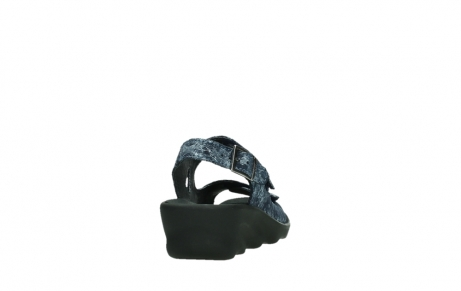 wolky sandalen 03125 scala 48800 blue printed suede_20