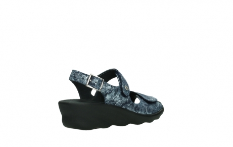 wolky sandalen 03125 scala 48800 blue printed suede_22