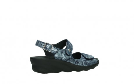 wolky sandalen 03125 scala 48800 blue printed suede_23