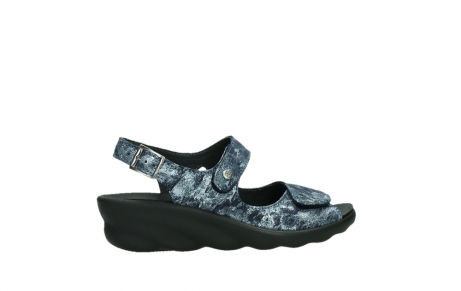 wolky sandalen 03125 scala 48800 blue printed suede_24