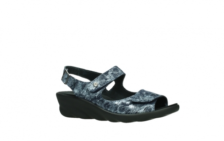 wolky sandalen 03125 scala 48800 blue printed suede_3
