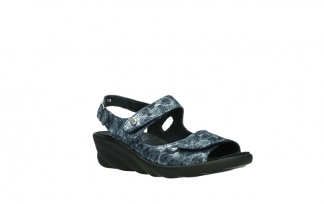 wolky sandalen 03125 scala 48800 blue printed suede_4