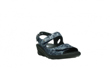 wolky sandalen 03125 scala 48800 blue printed suede_5